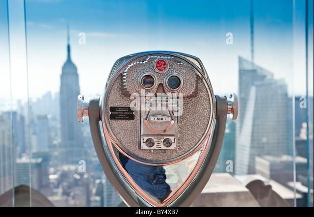 The Rockefeller Center viewing platform, New York City. - Stock-Bilder