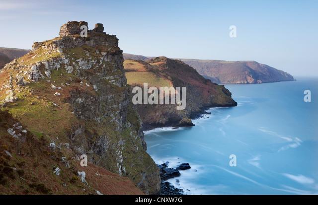 Valley of Rocks, Exmoor, Devon, England. Spring (March) 2012. - Stock Image