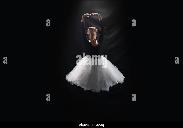 Ballerina on black background - Stock-Bilder