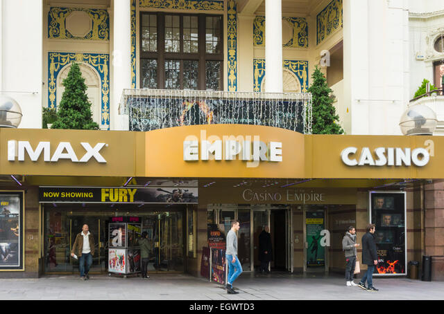 Empire IMAX Cinema in  Leicester Square, London, UK - Stock Image