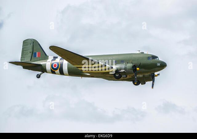 RAF BBMF Dakota ZA947 C-47 - Stock Image