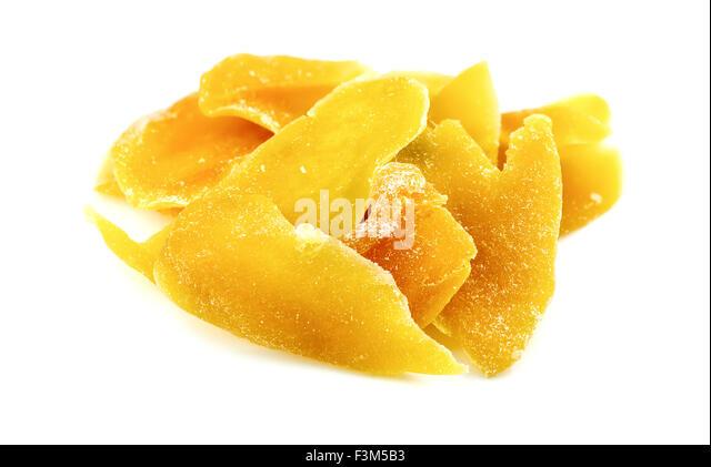 Tasty dried mango slices - Stock Image