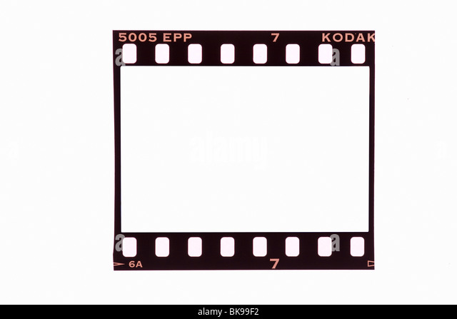 35mm film strip frame cut out - Stock Image