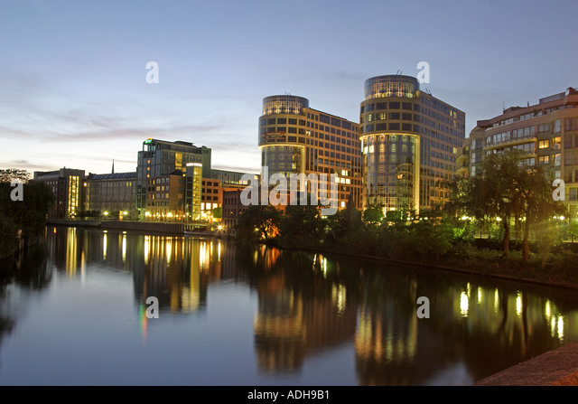 Berlin Moabit ministry of interior modern architecture river spree - Stock Image