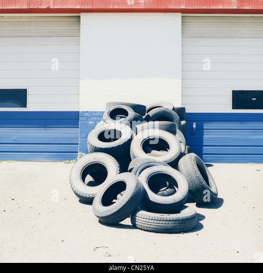 Pile of tires - Stock Image