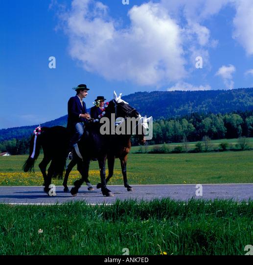 Pfingstritt Bavaria Germany Koetzting. Photo by Willy Matheisl - Stock Image