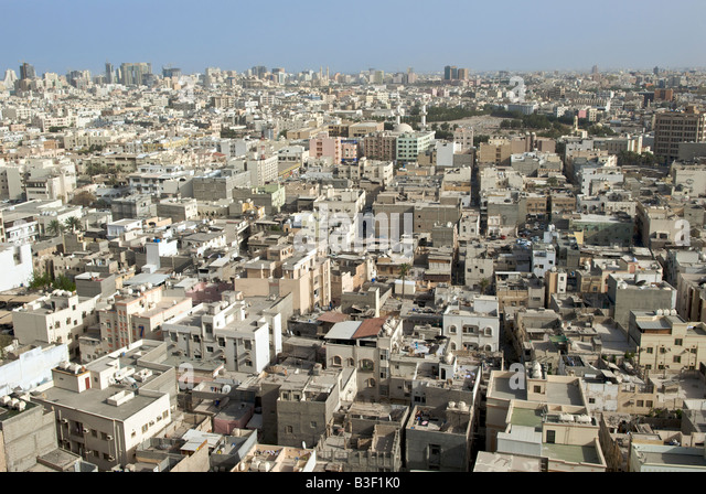 Aerial view Manama Bahrain - Stock Image