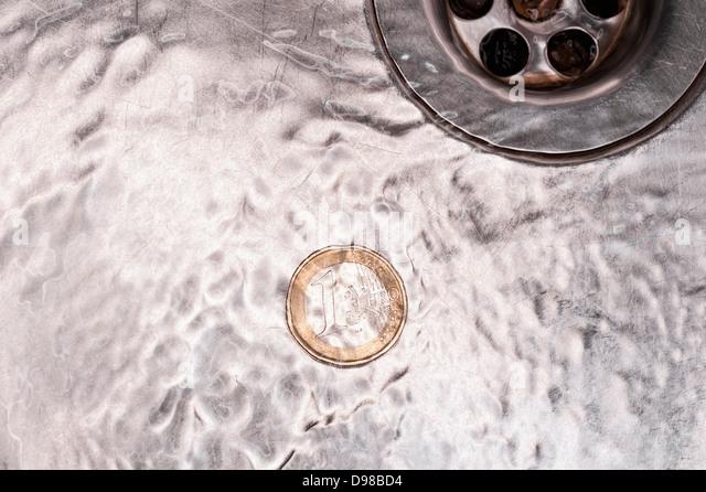 Kitchen Sink Spewing Water