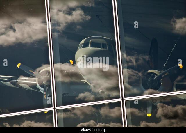 C-47 skytrain in museum - Stock Image