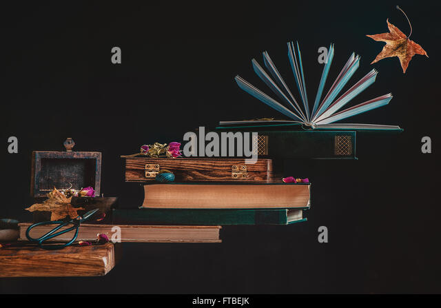 Autumn books - Stock Image