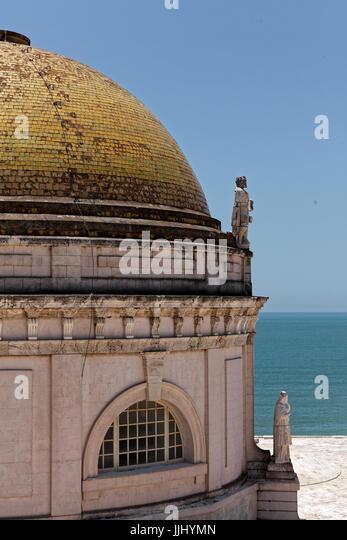 Cupola, Cadiz Cathedral (Catedral de Santa Cruz de Cádiz), Plaza Catedral, Cadiz, Spain - Stock Image