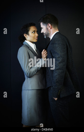 Portrait of couple in business clothing - Stock-Bilder