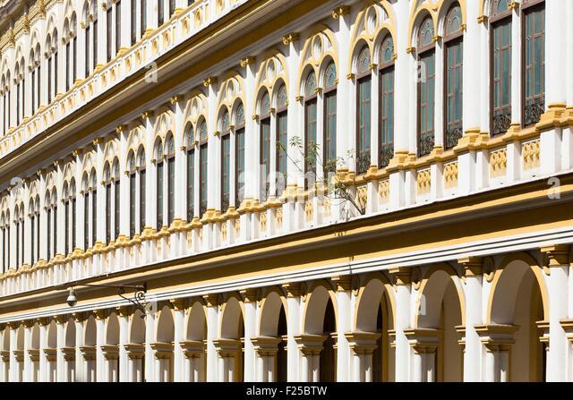 Cuba, Ciudad de la Habana province, La Havana, Centro Habana district, apartment building on Trocadero street - Stock Image