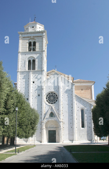 Fermo Cathedral Tower in Le Marche Italy - Stock Image