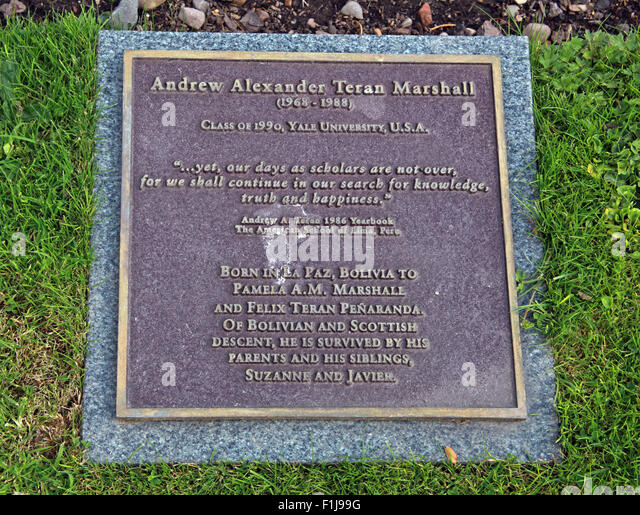 Lockerbie PanAm103 In Rememberance Memorial Andrew Alexander Teran Marshall,Scotland - Stock Image