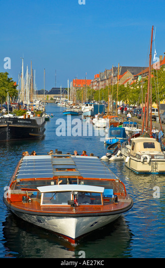 Christianhavns Kanal in Copenhagen Denmark Europe - Stock Image