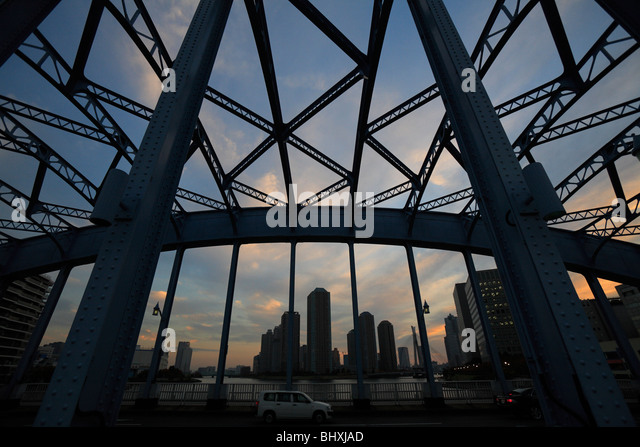 Eitai Bridge, Chuo, Tokyo, Japan - Stock Image