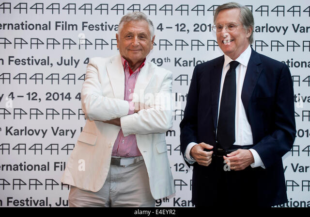 Karlovy Vary, Czech Republic. 9th July, 2014. US film director, producer and screenwriter William Friedkin, right, - Stock-Bilder