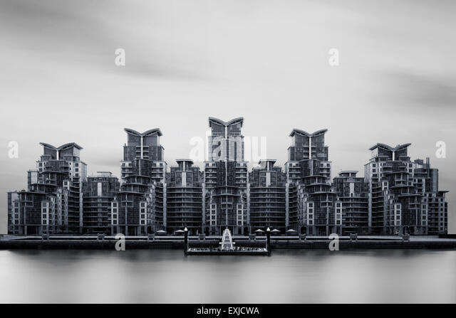 St George Wharf, overlooks the River Thames. London, UK. - Stock Image