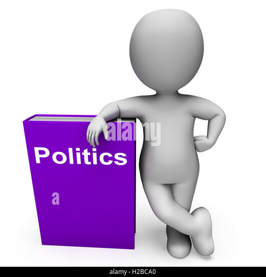Politics Book And Character Shows Books About Government Democra - Stock Image