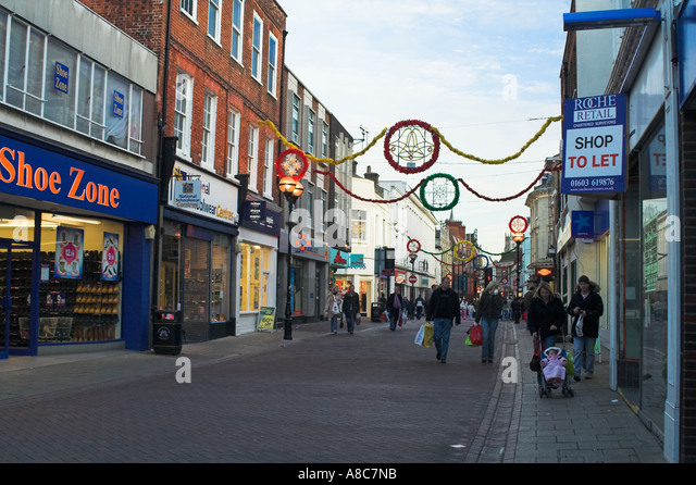 Ipswich Shopping Westgate Street Christmas time - Stock Image