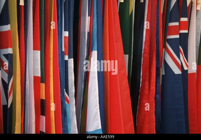 International Flags - Stock-Bilder