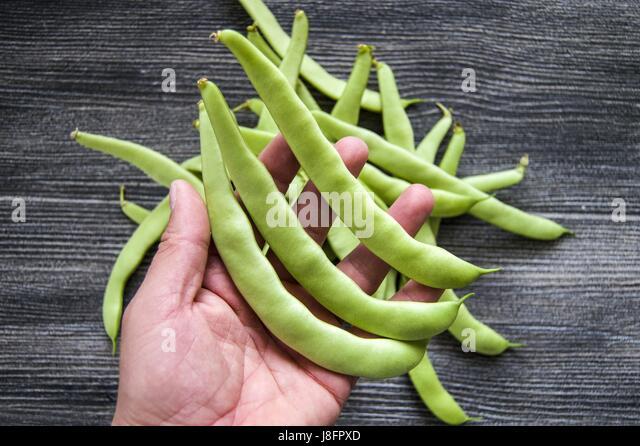 Abundant fiber source green bean for health - Stock Image