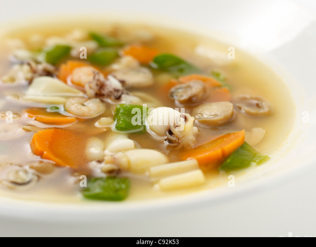 Octopus soup stock photos octopus soup stock images alamy for Thai fish soup