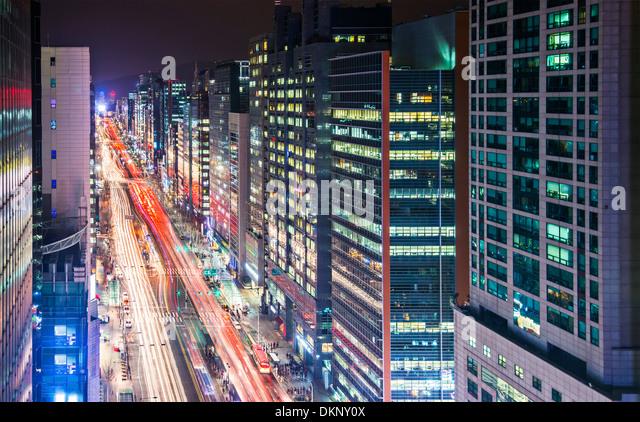 Seoul, South Korea cityscape. - Stock Image