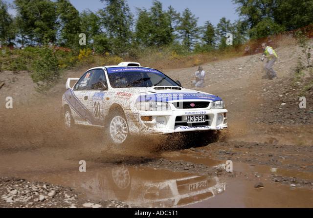 Motor Sport Scottish Rally - Stock Image