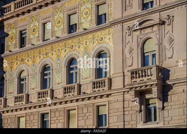 Triest Architektur Detail - Trieste architecture detail 03 - Stock-Bilder