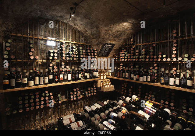 Wine cellar in Austria - Stock Image