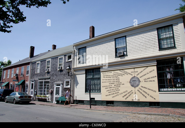 Nantucket Town Nantucket Island Massachusetts Stock Photos