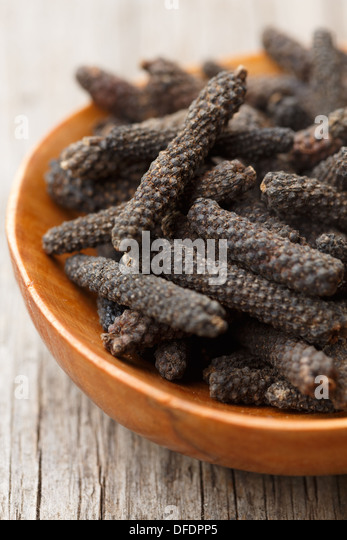 indonesian Long pepper - Stock Image