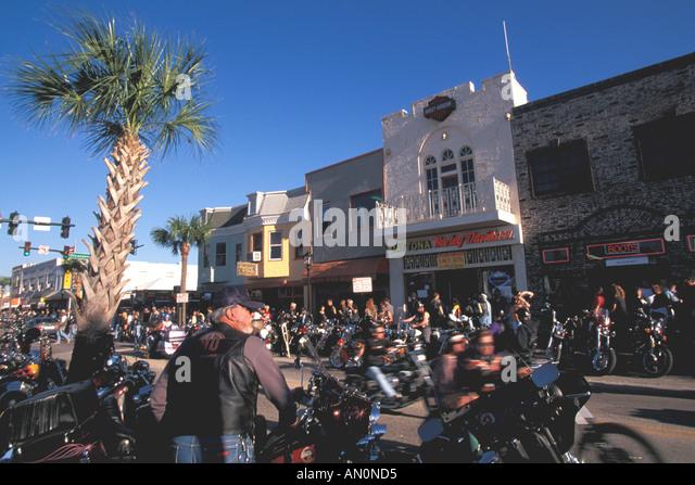 Daytona Beach Florida fl bike week - Stock Image
