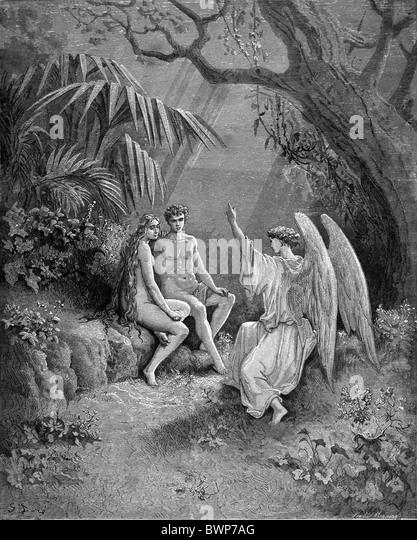 an analysis of the story of adam and eve in paradise lost by john milton Paradise lost tells the biblical story of the fall from grace of adam and eve (and, by extension, all humanity) in language that is a supreme achievement of rhythm and sound the main characters in the poem are god, lucifer (satan), adam, and eve.