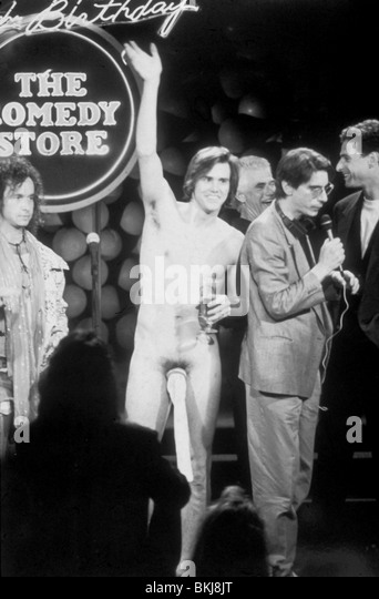 JIM CARREY PORTRAIT 20TH ANNIVERSARY OF THE COMEDY STORE WITH PAULY SHORE, BOB SAGET, RICHARD BELZER JCRY 001 - Stock Image