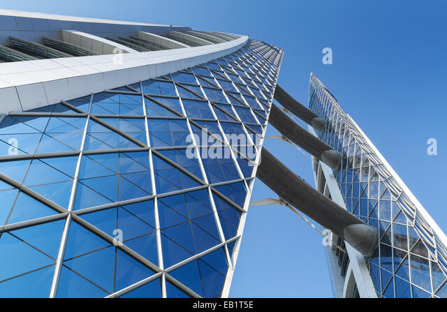 Manama, Bahrain - November 21, 2014: Bahrain World Trade Center. This is a 240-meter-high, 50-floor, twin tower - Stock Image