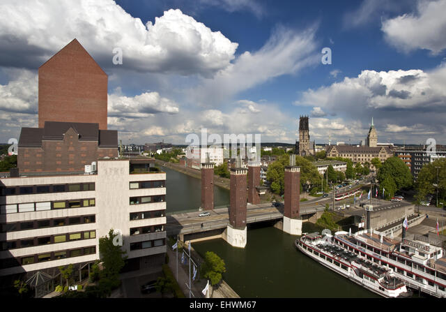 NRW Archives, Schwanentor, downtown, Duisburg. - Stock Image