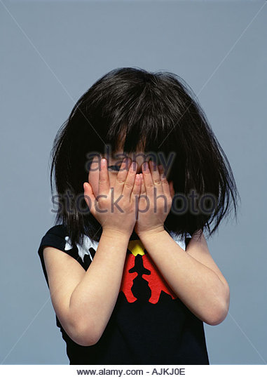 covering face with hands naughty young girl stock photos naughty young girl stock 7639