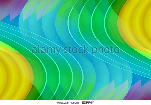 Abstract multicolored wavy backgrounds pattern - Stock-Bilder
