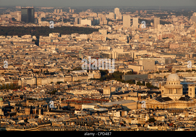Aerial view of Paris, France, Europe - Stock Image