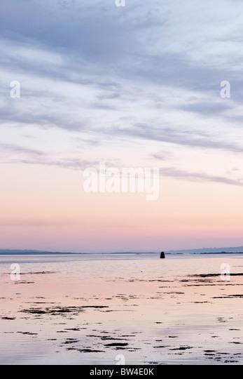 Sunset view from near Beal an Daingin, Connemara, County Galway, Connaught, Ireland - Stock-Bilder
