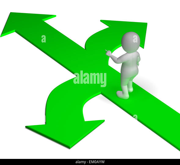 Arrows Choice Shows Options Alternatives Or Deciding - Stock Image