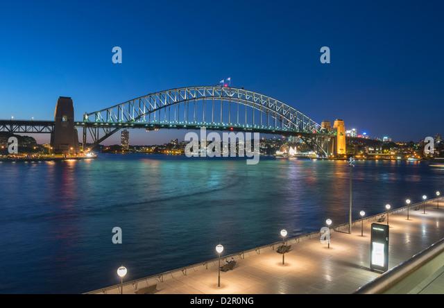 Harbour Bridge, Sydney, New South Wales, Australia, Pacific - Stock Image