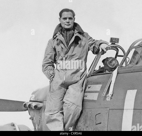 Douglas Bader From the archives of Press Portrait Service (Formerly Press Portrait Bureau) 01798-342716 - Stock Image