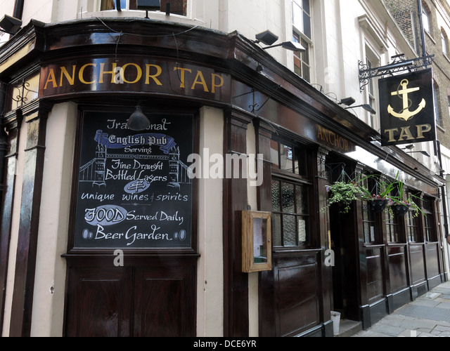 The Anchor Tap Samuel Smiths Pub Southwark London - Stock Image