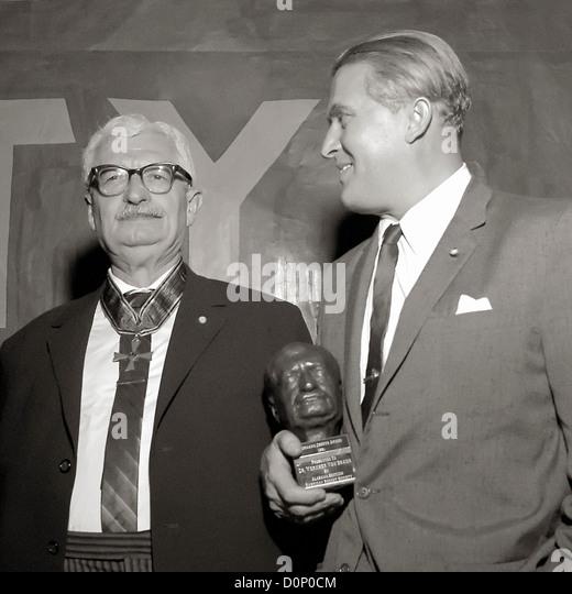 Hermann Oberth and Wernher von Braun - Stock Image