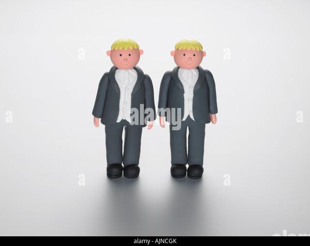 Wedding cake decoration figures - Stock Image