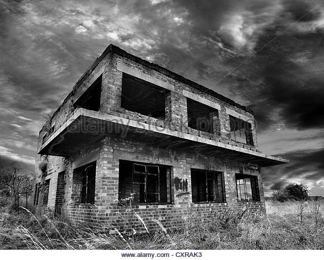 decayed and abandoned - Stock Image